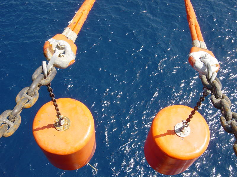 Support buoys and pick-up buoys